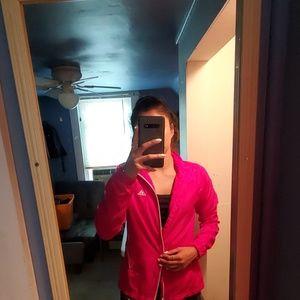 Pink Adidas wind breaker